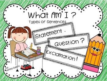 What Am I? Types of Sentences