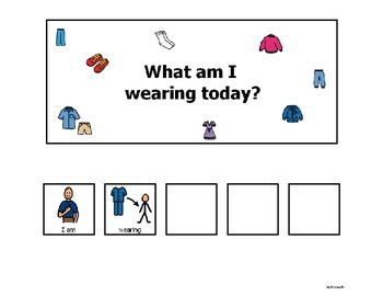 What Am I Wearing Language Activity
