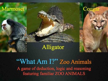 What Am I? Zoo Animals Mystery Game - Sight Word Fluency Literacy - Keynote