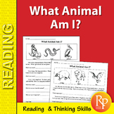 What Animal Am I? Reading & Critical Thinking Activities