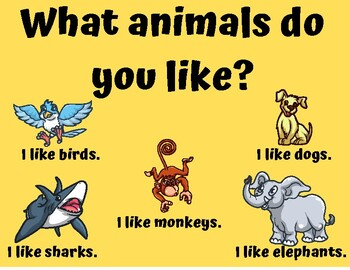 What Animals Do You Like? Voice Of VIPKID Flash Cards & Star Rewards