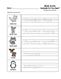 What Arctic Animals Do You See? Trace the Words Worksheets