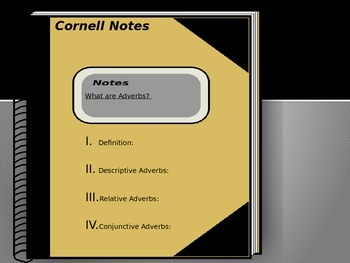 What Are Adverbs? Cornell Notes