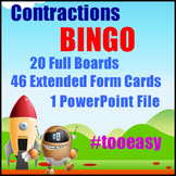 Contractions Game - BINGO - Expanded Form for Caller - Con