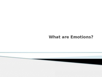 What Are Emotions? Social Skills
