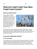 What Are Fossil Fuels? How Were Fossil Fuels Formed?