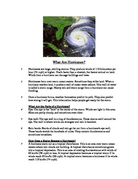 What Are Hurricanes? - Informational Text Test Prep