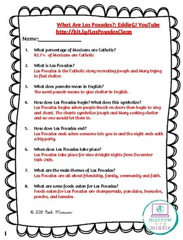 What Are Las Posadas? NO PREP Video and Listening Comprehension Activity