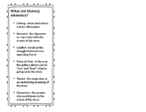 What Are Literary Elements Bookmark