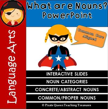 What Are Nouns? – PowerPoint CCSS Aligned 3rd Grade Up