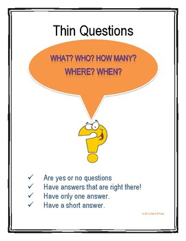 What Are Thin and Thick Questions?
