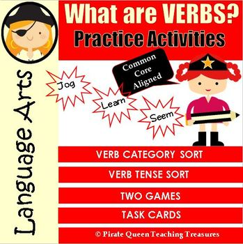 What Are Verbs? – Practice Activities CCSS Aligned 3rd Grade Up