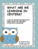 What Are We Learning in Centers?  OWL Themed  Posters with