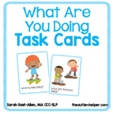 What Are You Doing? Present Progressive Task Cards
