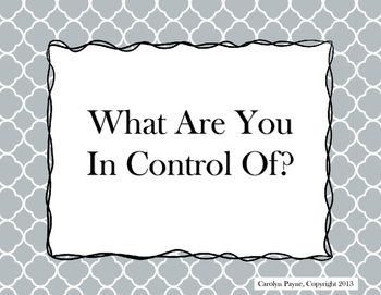 What Are You In Control Of?