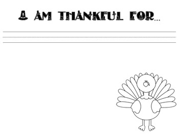 What Are You Thankful For? Thanksgiving Writing Templates