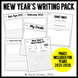 New Year's Writing Activity Pack-No Prep