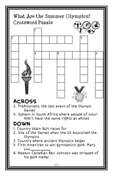 What Are the Summer Olympics? (Gail Herman) Book Study / Comprehension  (29 pgs)