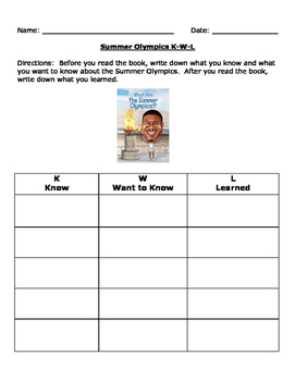 What Are the Summer Olympics? Workbook