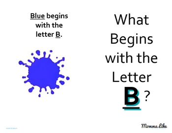 What Begins With Letters Book