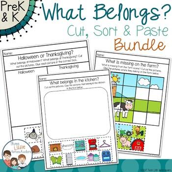 What Belongs? Cut Sort & Paste Activities