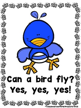 What Can Fly?  (A Sight Word Emergent Reader and Teacher Lap Book)
