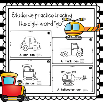 What Can Go Fast?  emergent reader