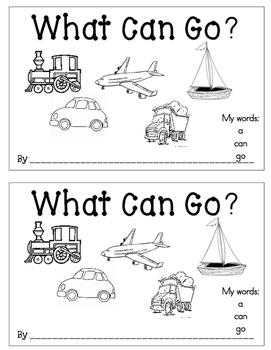 What Can Go? Mini Book