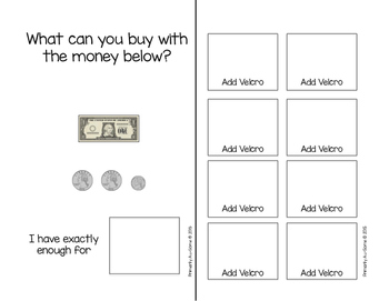What Can I Buy?  (An Adapted Book for Counting Money)
