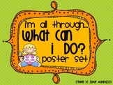 What Can I Do? * Early Finishers Poster Set