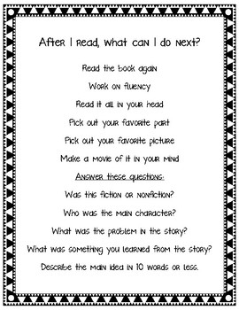 What Can I Do Next? for Guided Reading