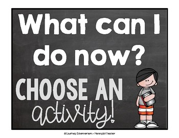 What Can I Do Now? - Classroom Posters & Activities for What to do When Finished