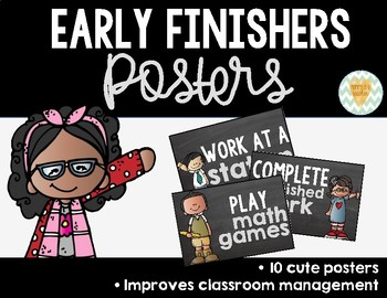 Classroom Posters for the Early Finisher