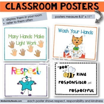 Respect and Kindness Posters for Classroom Display
