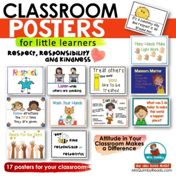 Posters for Classroom Display | Respect | Kindness | Citizenship