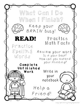 What Can I Do When I Finish? ~Printable Poster FREEBIE!!!~