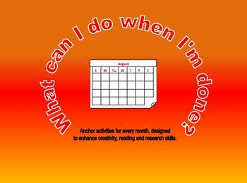 Anchor Activities - What Can I Do When I'm Done?