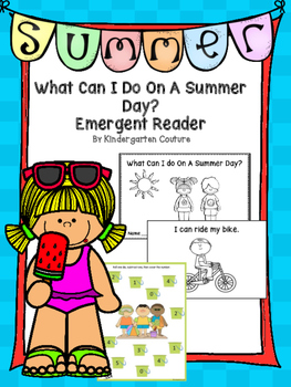 What Can I Do on A Summer Day? Emergent Reader