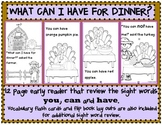 What Can I Have For Dinner?/Thanksgiving  Reader/ Color an