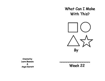 What Can I Make With This? Sight Word Book- Week 22
