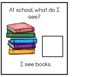 What Can I See at School Adapted Books