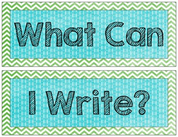 What Can I Write?