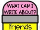 What Can I Write About? Editable Writing Topics Pencil Poster