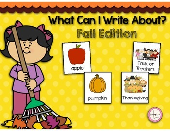 What Can I Write About? Fall Edition Writing Cards