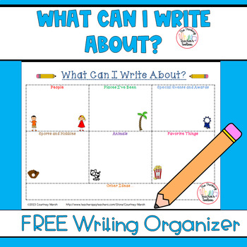 What Can I Write About Organizer for Writer's Workshop