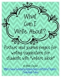 What Can I Write About Posters - Writing Topic Ideas