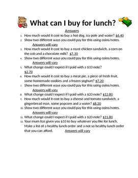 What Can I buy for Lunch?