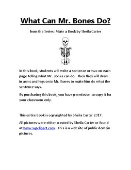 What Can Mr. Bones Do? Book