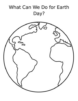 What Can We Do For Earth Day Worksheet