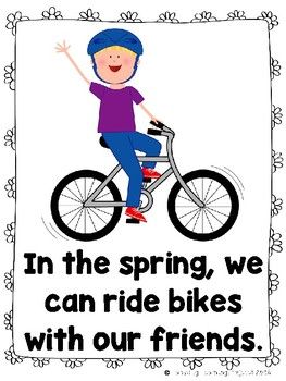 What Can We Do in The Spring?  (An Emergent Reader and Teacher Lap Book)